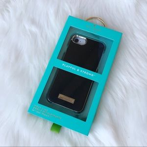 Black and gold Kate Spade iPhone 8/7 phone case